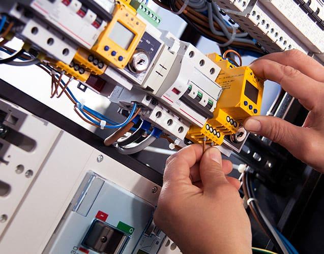 panneau de distribution électrique